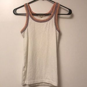 Madewell Rainbow And White Tank